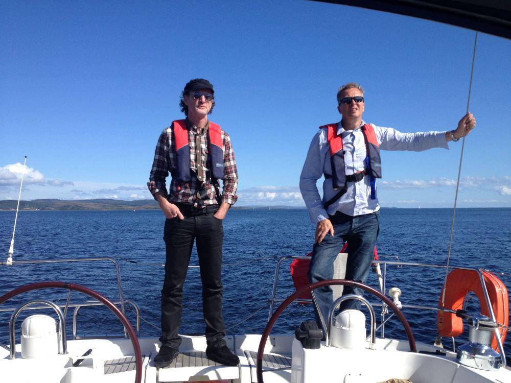 Paul Rankin & Nick Nairn, Filming on board.
